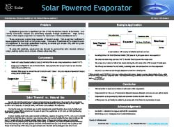 Solar Powered Evaporator