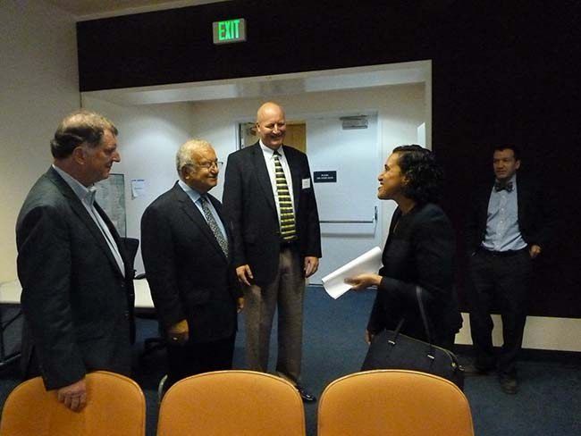 CPUC Commissioner Liane Randolph arrives and greets the team.