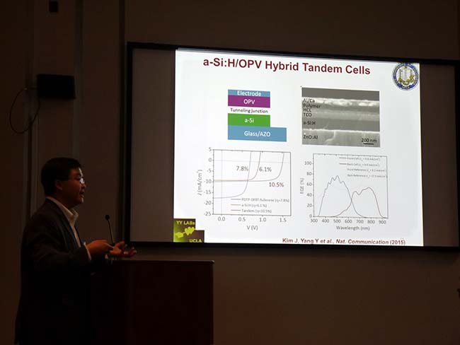 UCLA Research Professor Gang Li describes his group's work on organic and hybrid solar cells.